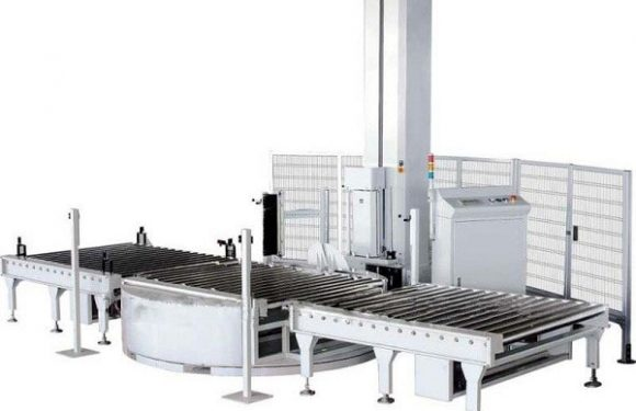 Full automatic tray wrapping machine