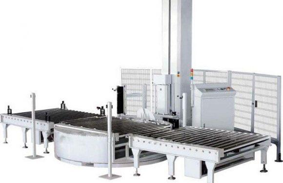 托盘拉伸膜缠绕包装机 全自动托盘缠绕包装机