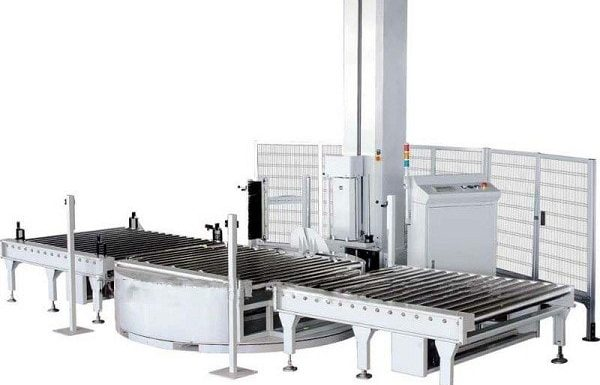 Full automatic tray winding packaging machine
